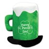Plush St Patrick's Day Beer Mug Hat