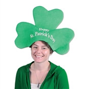 Plush St Patrick's Day Shamrock Hat