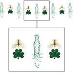Shamrock Shimmer Garland, 10 Foot