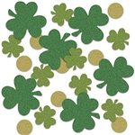 You'll spread the Luck of the Irish when your spread this Shamrock & Coin Deluxe Sparkle Confetti on the tables at your St. Patrick's Day celebration!  Add sparkle, fun and interest to table settings, centerpieces and more with this sparkly favorite.