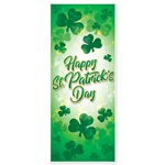 Show your Irish and be the envy of the neighborhood with this great looking Happy St. Patrick's Day door cover.  The door cover measures 30 inches wide by 6 feet long, perfectly sized to dress up any door in your house!  Easy to hang, all weather.