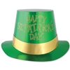 Green Happy St Patricks Day Foil Hi-Hat (sold 25 per box)