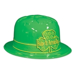 Happy St. Patrick's Day Shamrock Derby Hat