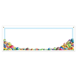 Easter Egg Hunter Sign Banner