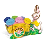 Add this adorable Vintage Easter Bunny with Cart to your Easter decorations and you'll be adding a classic touch everyone is sure to love.  Originally designed in 1957, this reproduction is printed two sides on high quality card stock..