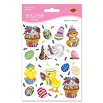 Bunny, Basket, and Egg Stickers (4 sheets/pkg)