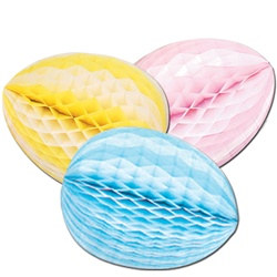 Striped Tissue Egg, 18 inch