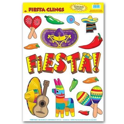 fiesta window clings 14sheet - Window Clings