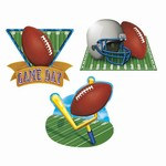 Game Day Football Cutouts (3/pkg)