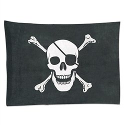 Our fabric Pirate Flag will let your guests know there's party treasure to be found!   Made of burlap material for that extra Pirate feeling.