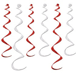 Red and White Twirly Whirlys (6/pkg)