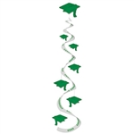 Green Graduation Cap Whirls (3/pkg)