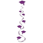 Purple Graduation Cap Whirls (3/pkg)