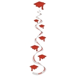 Red Graduation Cap Whirls (3/pkg)