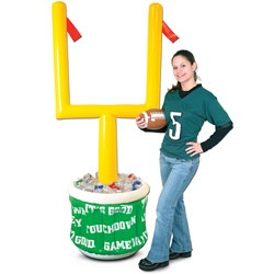 Inflatable Goal Post Cooler w/Football