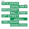 NYC Street Sign Cutouts (4/pkg)