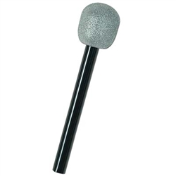 Bring on the lip-synching with the always popular Glittered Microphone. Get this Glittered Microphone for the little diva that likes to sing. It's the perfect accessory when you just have to dress up as your favorite singer.