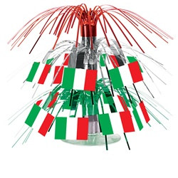 Mini Italian Flag Cascade Centerpiece
