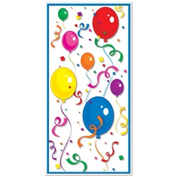 Balloon and Confetti Door Cover