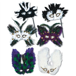 Ultimate Fanci-Feather Mask (Assorted Colors - Sold Individually)