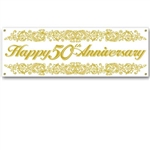 50th Anniversary Sign Banner