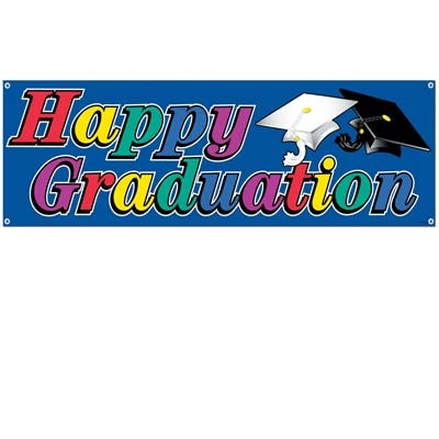 Happy Graduation Sign Banner - 5 Foot