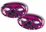 Purple Metallic Half Mask (Sold Individually)