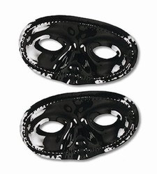 Black Half Masks (1/pkg)