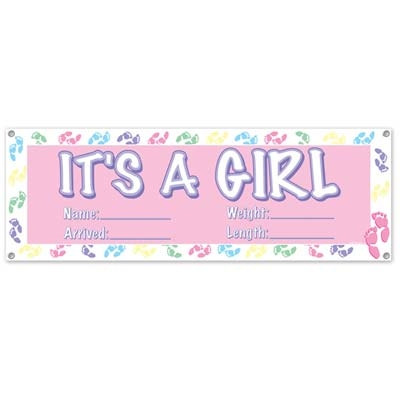 It's A Girl Sign Banner