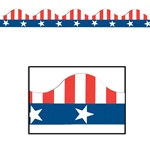 Patriotic Border Trim (12pcs/pkg) Total 37 feet