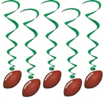 Football Whirls (5/pkg)