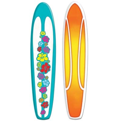 Surfboard Decoration - PartyCheap