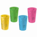 Plastic Bamboo and Hibiscus Tumblers (Sold Individually)