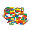 Add a colorful centerpiece to each table at the party with these Building Blocks Favor Boxes. These colorful favor boxes require just minor assembly and will certainly add plenty of color to the party. Each box measures 3.25 inches when fully assembled.