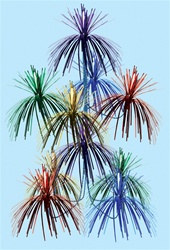 Multi-Color Firework Chandelier