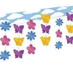 Butterfly and Flower 3-D Sky-Scape