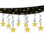 Gold Stars Ceiling Decoration