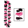 Pink and Black Party Lei