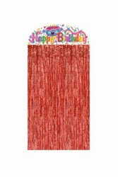 Birthday Cake Character Curtain™, 4½ftx3ft  (1/Pkg)