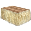 Raffia Tropical Table Skirting