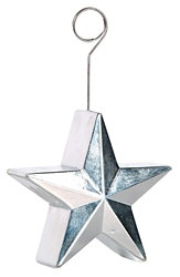Silver Star Photo/Balloon Holder
