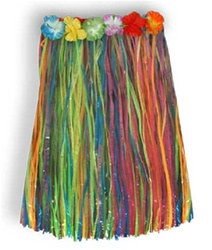 Child Artificial Grass Hula Skirt (Multicolor)