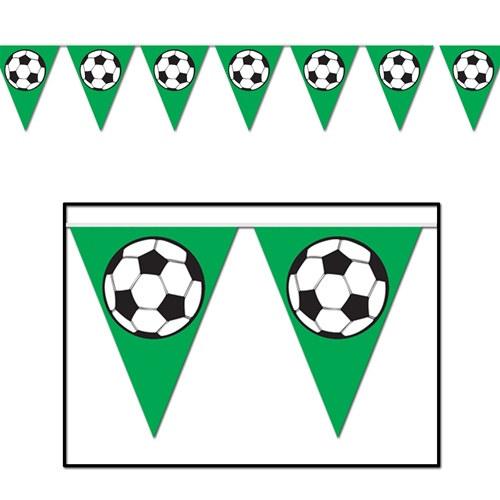 Soccer Ball Pennant Banner PartyCheap