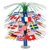 International Flag Cascade Centerpiece