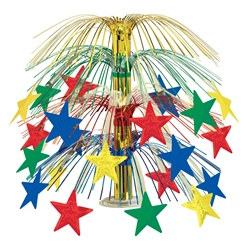 Multi Colored Star Cascade Centerpiece