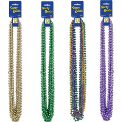 Mardi Gras Party Beads - Select Color (12/pkg)