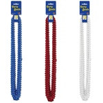 Patriotic Party Beads - Select Color (12/pkg)