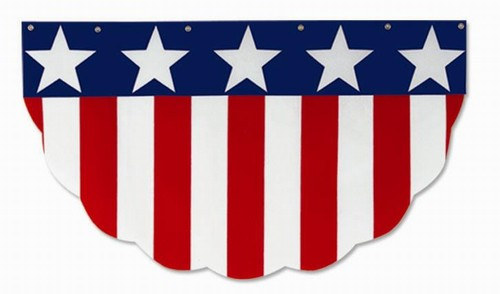 Velvet Patriotic Bunting - 2 Ft - PartyCheap
