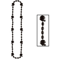 Black Football Helmet Beads