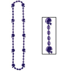 Purple Football Helmet Beads (1/pkg)